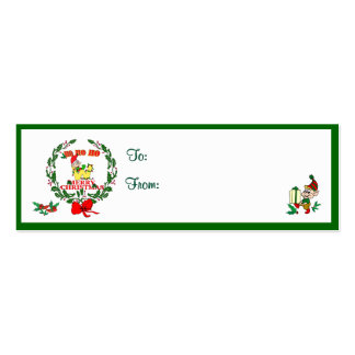 W - CHRISTMAS ELF MONOGRAM GIFT TAGS BUSINESS CARDS