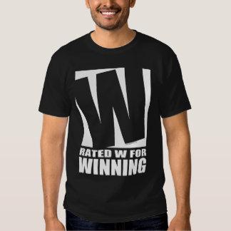 W clasificado para ganar - oscuridad camisas