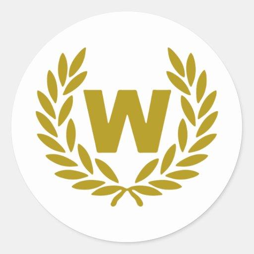 W-corona-premio.png Pegatinas Redondas