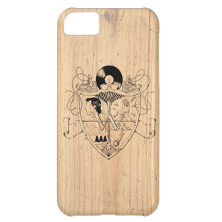 W Crest on Wood for iPhone 5 iPhone 5C Case