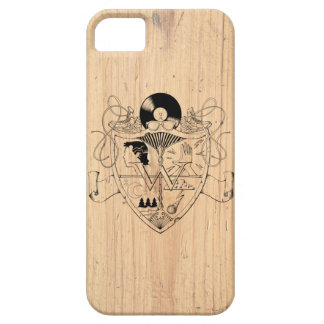 W Crest on Wood for iPhone 5 iPhone SE/5/5s Case