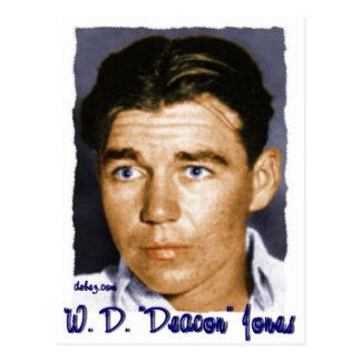 "W, D. ""diácono"" Jones Tarjetas Postales"