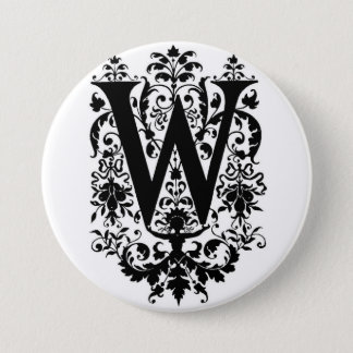 W ~ Decorative Monogram Button