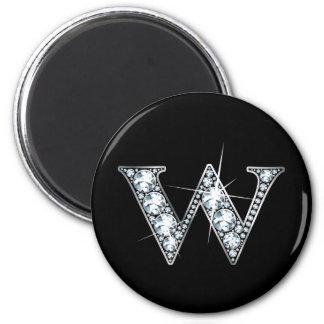 """""""W"""" Diamond Bling Magnet"""