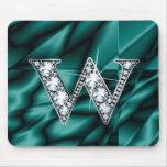 """W """"Diamond Bling""""  Mousepad"""