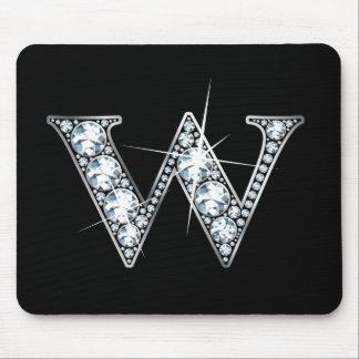 """""""W"""" Diamond Bling Mousepad"""