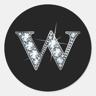 """W"" Diamond Bling Sticker"