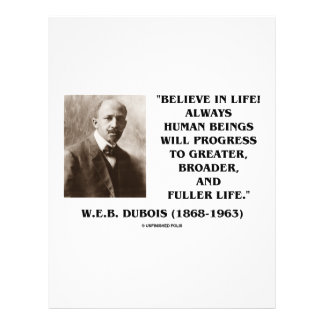 W E B Du Bois Believe en progreso de la vida siem Tarjetones