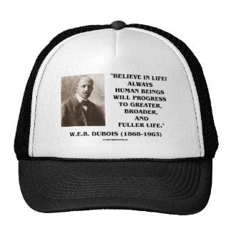 W E B Du Bois Believe en progreso de la vida siem Gorro