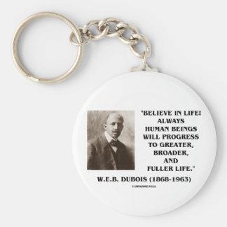 W E B Du Bois Believe en progreso de la vida siem Llavero