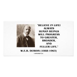 W E B Du Bois Believe en progreso de la vida siem Plantilla Para Tarjeta De Foto