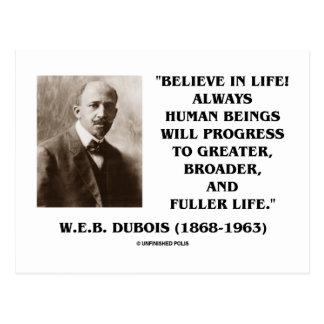 W E B Du Bois Believe en progreso de la vida siem Tarjetas Postales