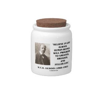 W.E.B. Du Bois Believe In Life Always Progress Candy Jars