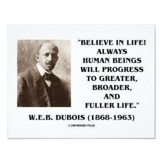 W.E.B. Du Bois Believe In Life Always Progress Card