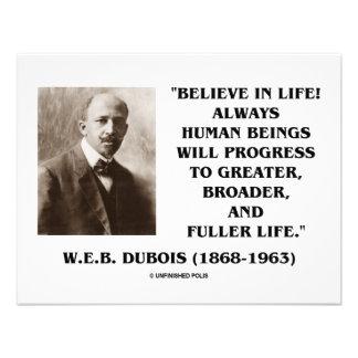 W.E.B. Du Bois Believe In Life Always Progress Announcement