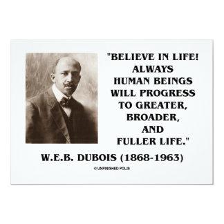 """W.E.B. ¡Dubois (Du Bois) cree en vida! Progreso Invitación 5"""" X 7"""""""