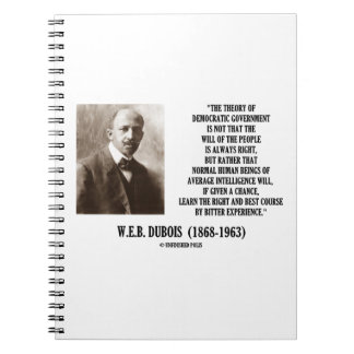 W.E.B. Dubois Theory Of Democratic Government Notebook