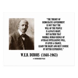 W.E.B. Dubois Theory Of Democratic Government Postcard