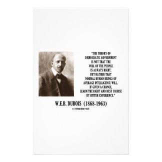 W.E.B. Dubois Theory Of Democratic Government Custom Stationery