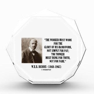 W.E.B. El trabajador de Dubois debe trabajar cita