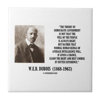 W.E.B. Teoría de Dubois del gobierno Democratic Azulejo Cuadrado Pequeño