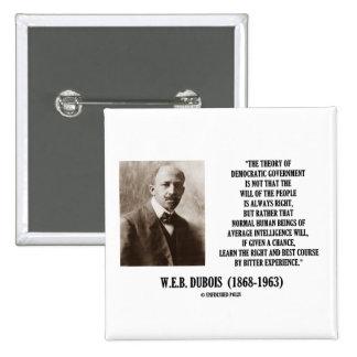 W.E.B. Teoría de Dubois del gobierno Democratic Pin Cuadrado