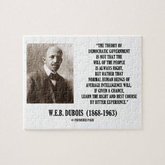 W.E.B. Teoría de Dubois del gobierno Democratic Puzzle