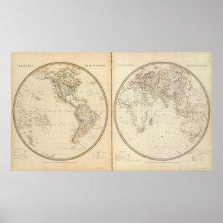 W, E Hemispheres 2 Poster