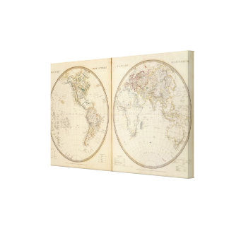 W, E Hemispheres Canvas Print