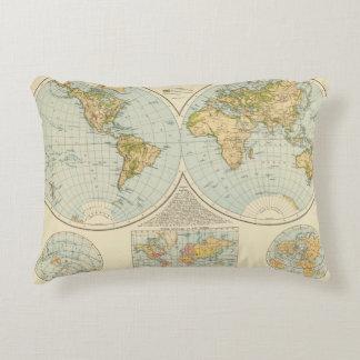 W, E Hemispheres Accent Pillow