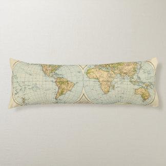 W, E Hemispheres Body Pillow