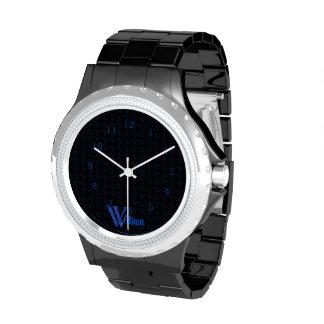 W - El alfabeto de Falck (azul) Reloj De Mano