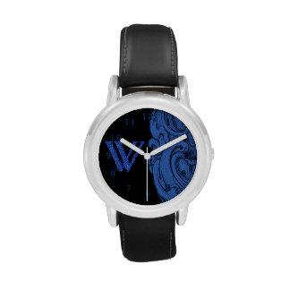 W - El alfabeto de Falck (azul) Relojes De Pulsera