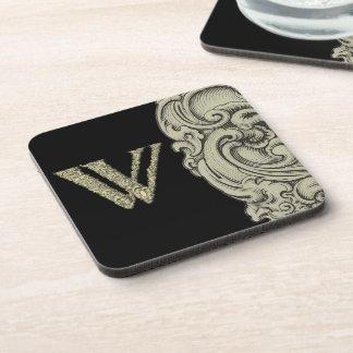 W - El alfabeto de Falck (de oro) Posavasos