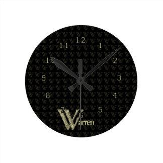W - El alfabeto de Falck (de oro) Relojes