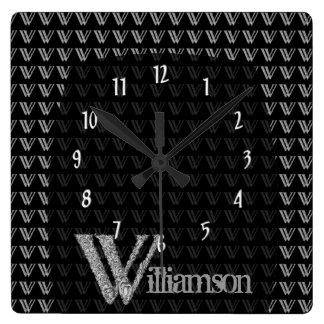 W - El alfabeto de Falck (plateado) Relojes