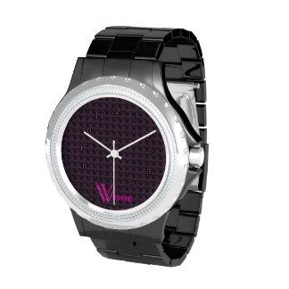 W - El alfabeto de Falck (rosa) Reloj