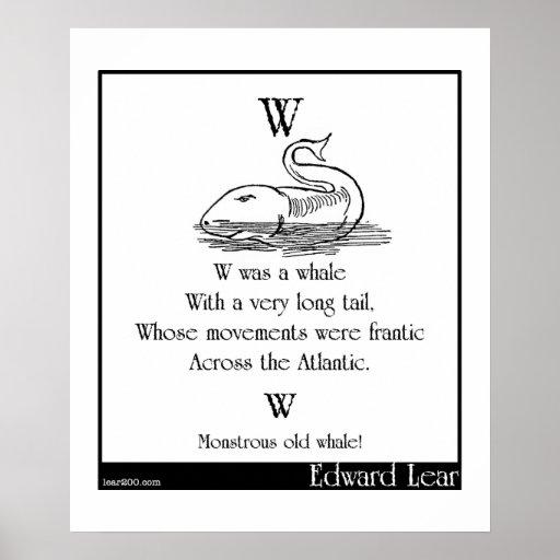 W era una ballena poster