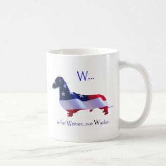 W está para la taza de Weiner