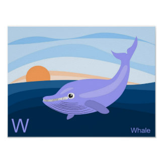 W for whale Poster