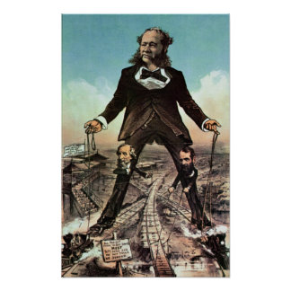 W.H. Vanderbilt as a 'Colossus of Roads' Poster