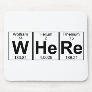 W-He-Re (where) - Full Mouse Pad