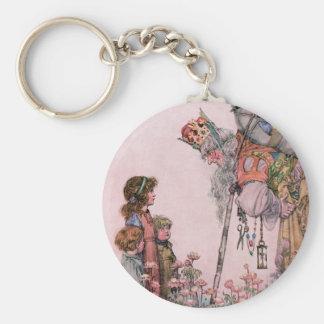 W Heath Robinson Illustration Bill the Minder Basic Round Button Keychain