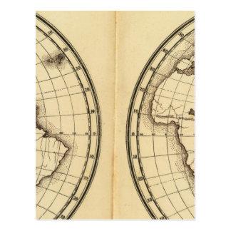 W Hemisphere, E Hemisphere 2 Postcard