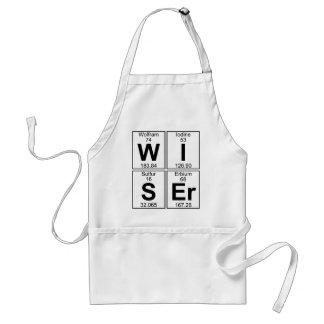 W-I-S-Er (wiser) - Full Adult Apron