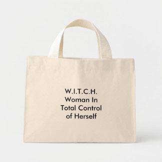 W.I.T.C.H.Woman en el control total de sí misma Bolsa De Tela Pequeña