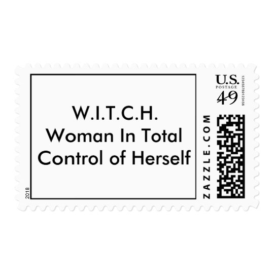 W.I.T.C.H.Woman In Total Control of Herself Postage
