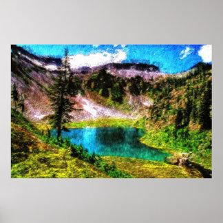 w impressionist print