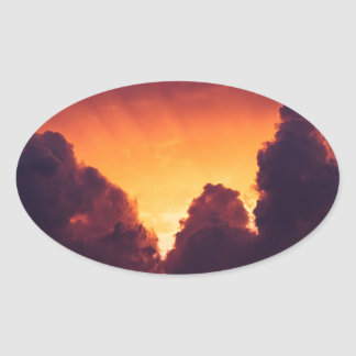 w in weather oval sticker