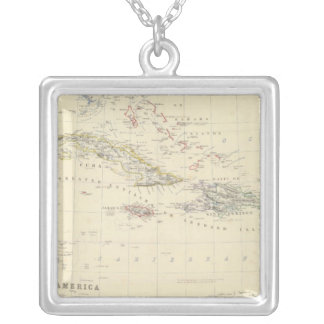 W India Is, Cent America Silver Plated Necklace